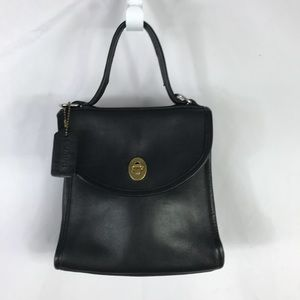 Handbags - Vintage Black Leather Mini Bag Purse